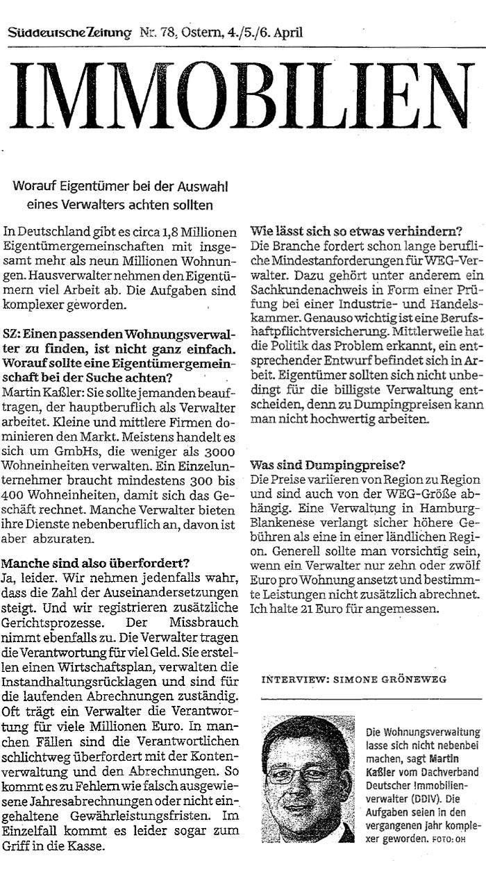 Artikel aus der Süddeutschen Zeitung Nr. 78 von Simone Gröneweg
