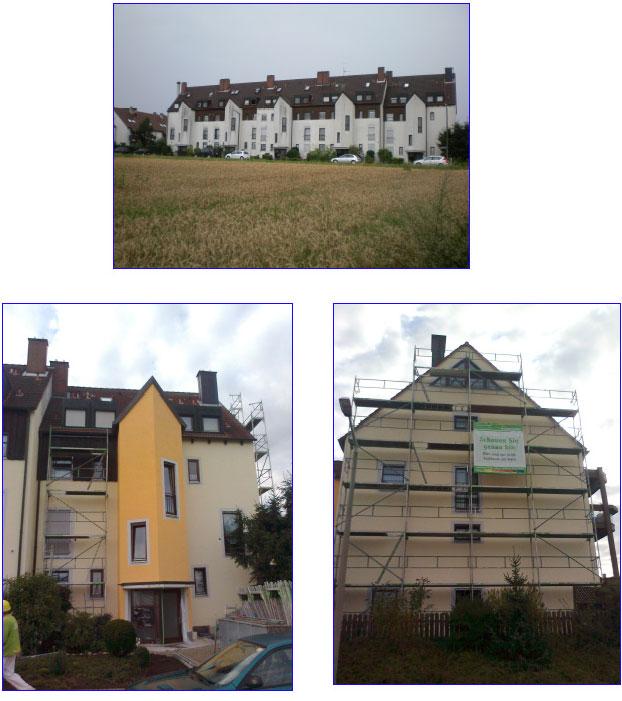 Fassadensanierung am Bruckweg 8-16 in 90455 Nürnberg, Baukosten: ca. 62.000,00 Euro
