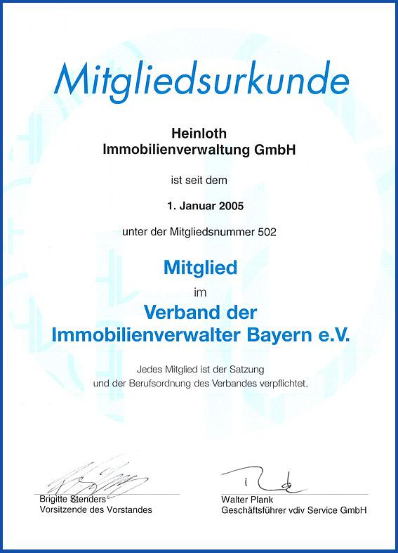 Mitglied im Verband der Immobilienverwalter Bayern e.V.